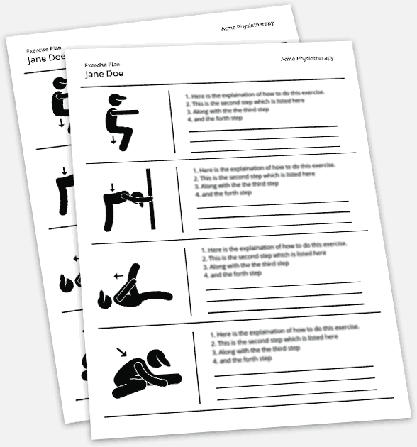 Compare Paper Exercise Plans to Cinetic's High Definition Video Exercise Plans